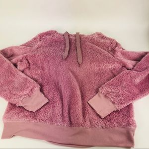 Fifth Sun Plush Soft Fleece Pink Hoodie Pullover